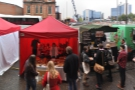 Finally, there was the street food area outside, doing great business despite the rain!