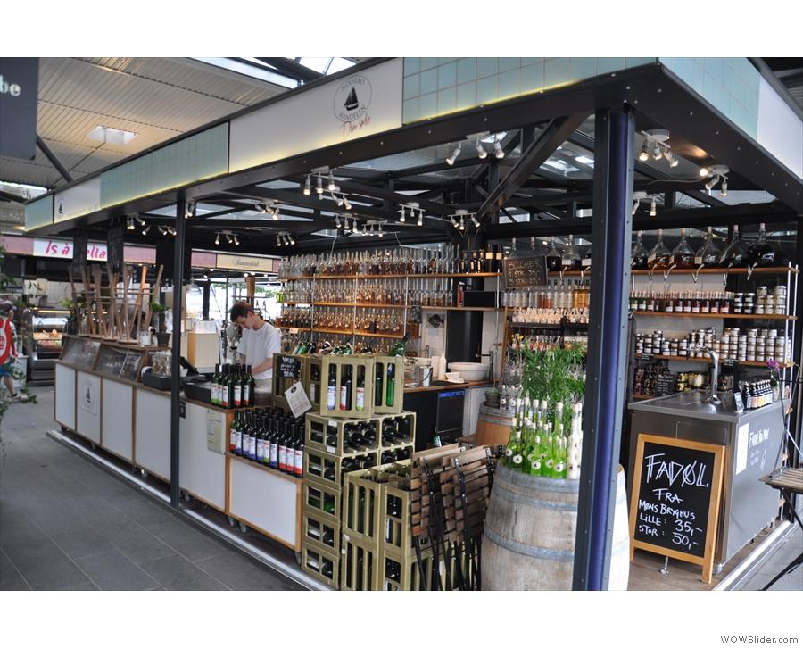 Torvehallerne also has wine bars...