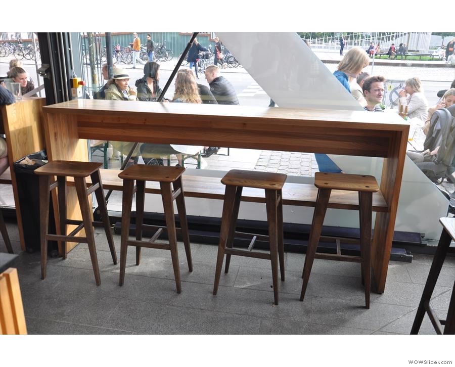 Each window-bar seats four.