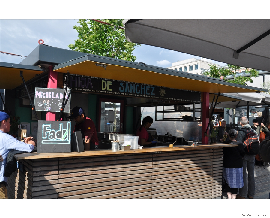 ... as well as various street food stalls...