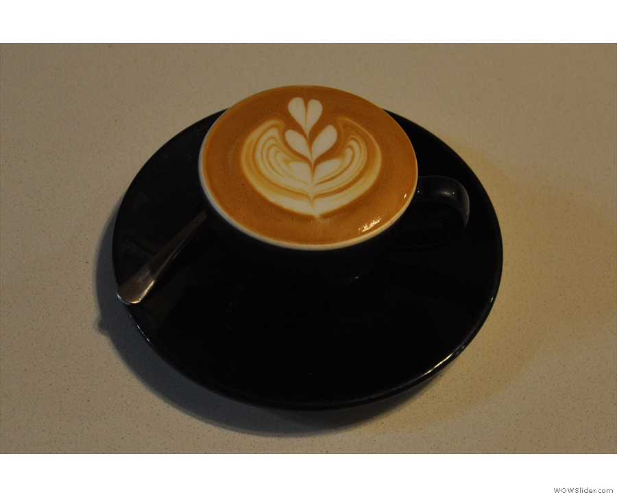 I rounded things off with a cappuccino, made with the house-blend, Twitch.