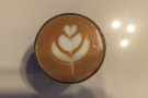 I'm always impressed by anyone who can do latte art, let alone in a small glass!