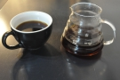 On my return, I had an awesome Guatemalan filter coffee through the Seraphim.