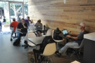 ... and the seating on the left (as seen from the back). It's laptop central!