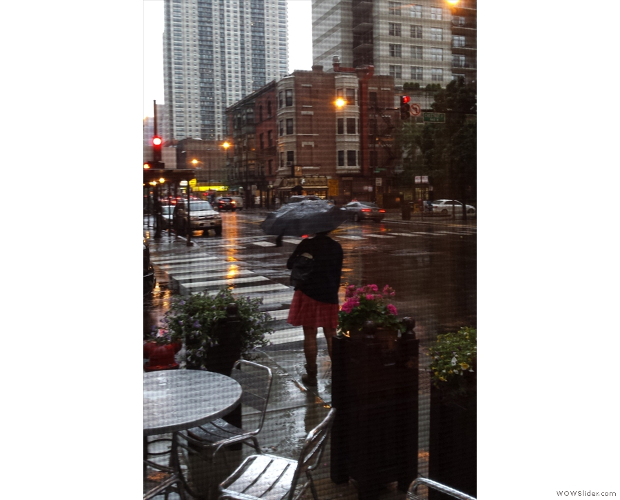 It rained and rained, in the way that only Chicago can on a sunny, summer's day.