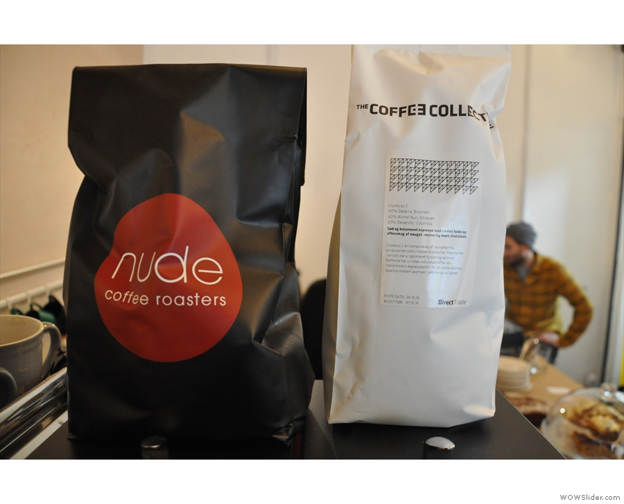 The two main espresso choices are both blends. One's from Copenhagen's Coffee Collective...