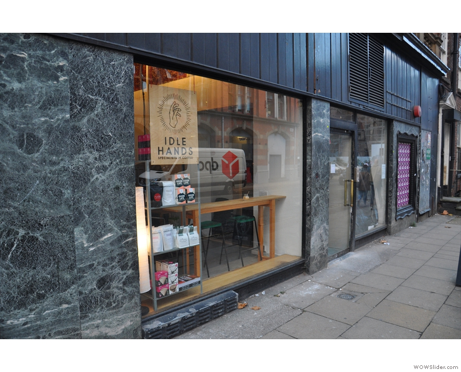 ... while the pop-up is one door down on Dale Street, with the door on the right.