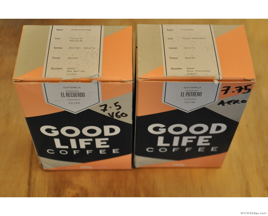 There are also two options from Finland's Good Life Coffee, both Guatemalans.