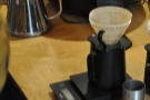 Meanwhile, over on the brew bar, Dave gets ready to go with a V60.