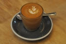 The result: a lovely cortado.