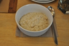 For now, there's just porridge. And very fine porridge it is too.