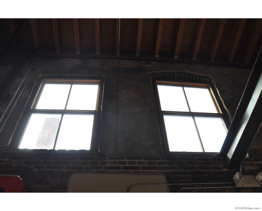 There are lots of windows in La Colombe, including these high up in the walls...