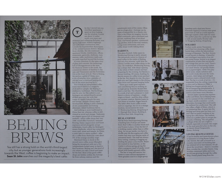 Elsewhere, Caffeine spreads its wings & heads east to Beijing to check out the local scene...