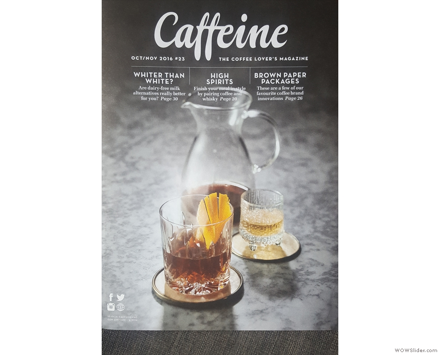 Caffeine Magazine's 23rd issue opens with a striking cover photo...