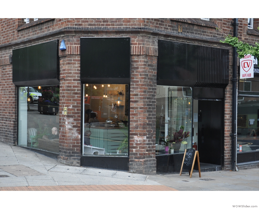 Nottingham's Speciality Coffee Shop, with its spot at the western end of Friar Lane.