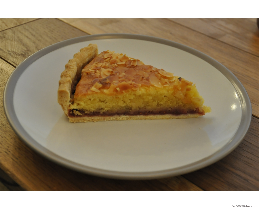 Meanwhile, I had a slice of the awesome Bakewell Tart...