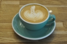 Lovely latte art in a flat white. Sadly not for me.