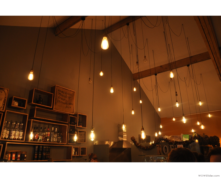 December: all the pretty lights at Coffee & Fandisha, Liverpool.