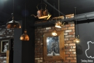 January: copper kettles as light-shades, anyone? Uncommon Ground, Cardiff.