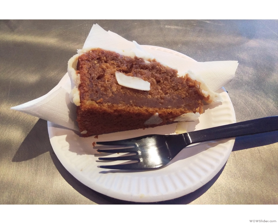 I also had a slice of the pumpkin cake.