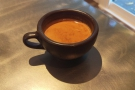 I was after espresso & was recommended the Volcano blend, seen here in my Kaffeeform cup.
