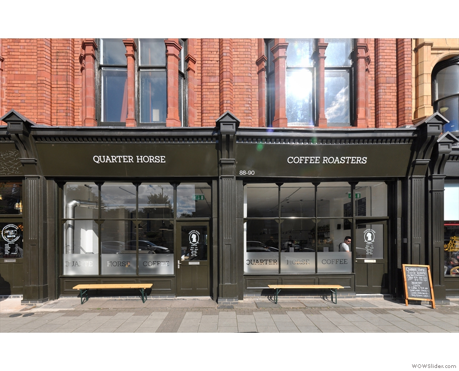 Birmingham's Quarter Horse Coffee Roasters, two for the price of one.