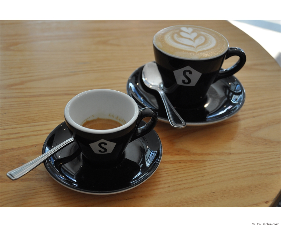 Amazing coffee from Strangers Coffee House, Norwich, proving automation isn't everything!