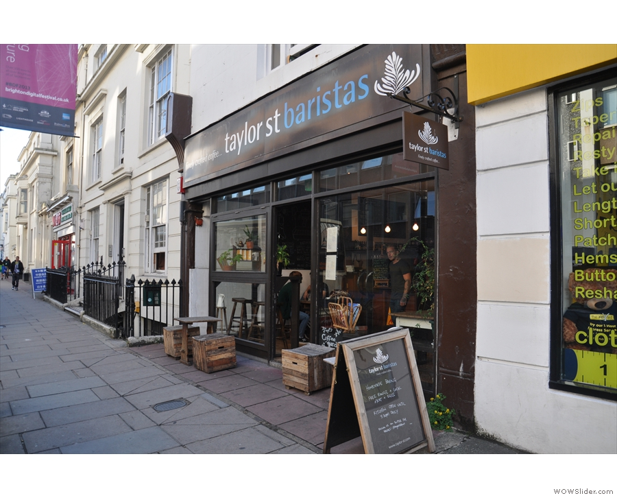 Taylor Street Baristas on Brighton's Queen's Road: the importance of visual appearance.