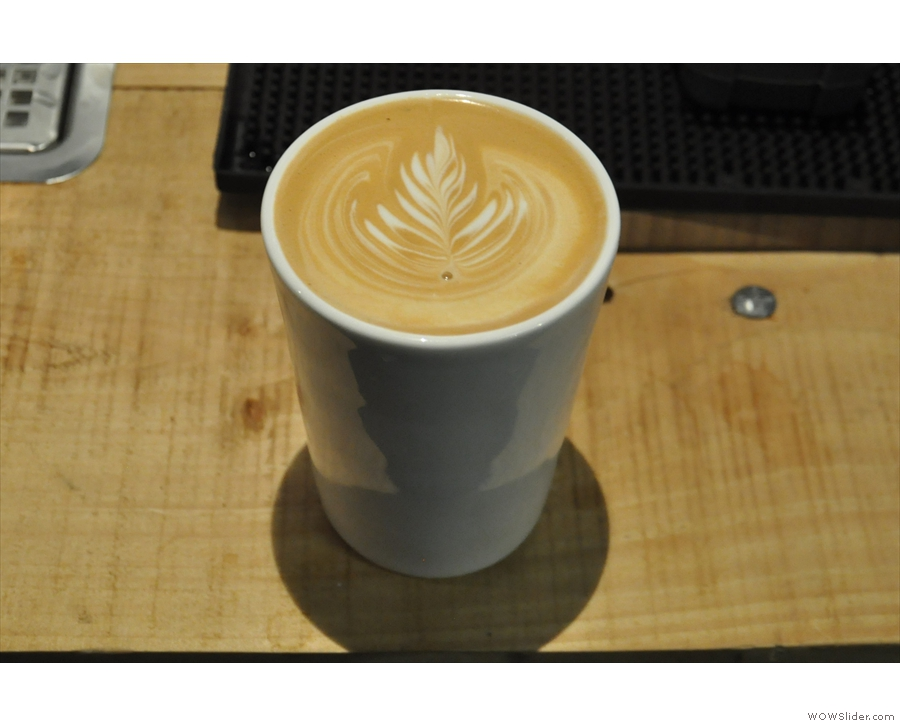 I'll leave you with some shots of my Therma Cup in action; here with a Carvetii flat white...
