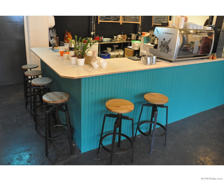 Finally, you can sit at the counter on one of the bar stools.