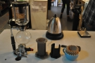 There's aeropress and Kalita Wave, plus syphon for groups.