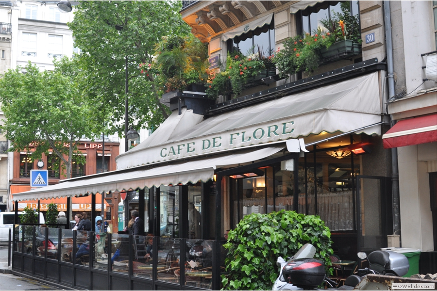 The side terrace on Rue Saint-Benoit on a rainy day in May 2013...
