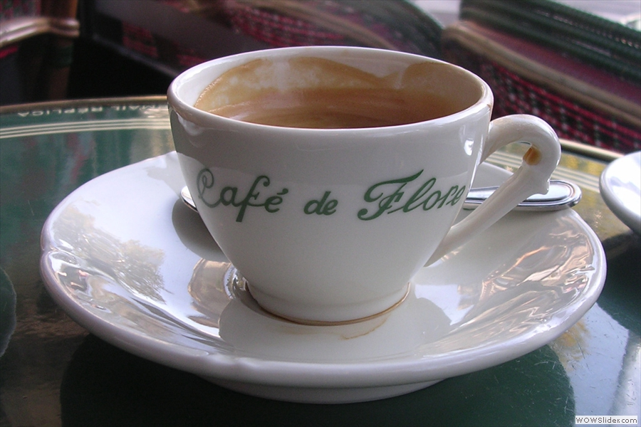 I'll leave you with this classic Cafe de Flore cup from 2009.