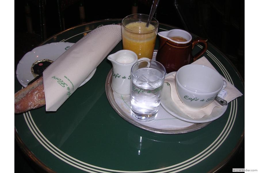 Le Petit Dejeuner, Cafe de Flore style, from 2009.