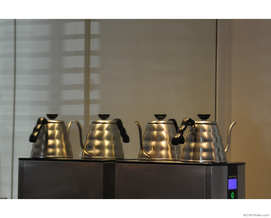 Kettles. And reflections of kettles.