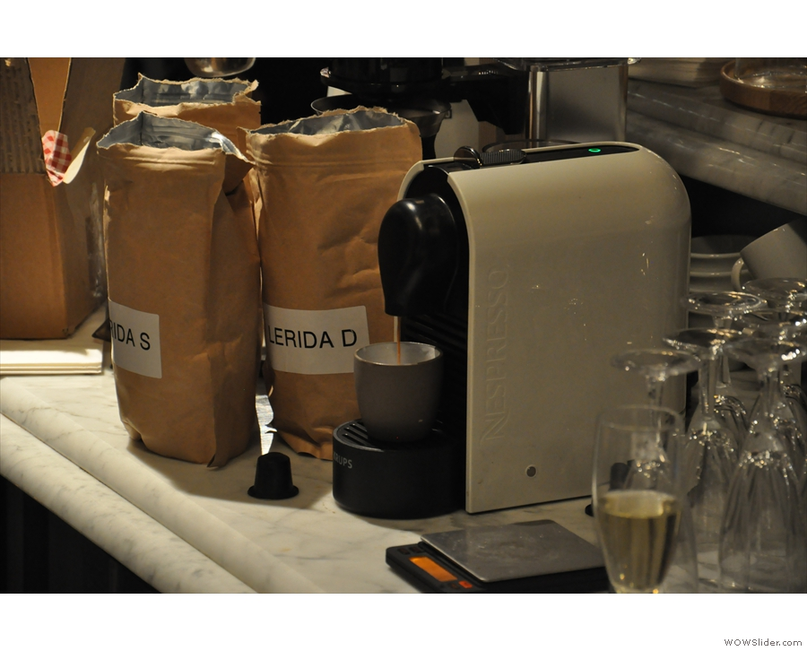 The big innovation this year is speciality coffee in capsules. This is from Colonna Coffee...