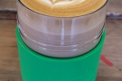 Staying with plastic, here's my 8oz Frank Green Smart Cup. Look! You can do latte art in it!