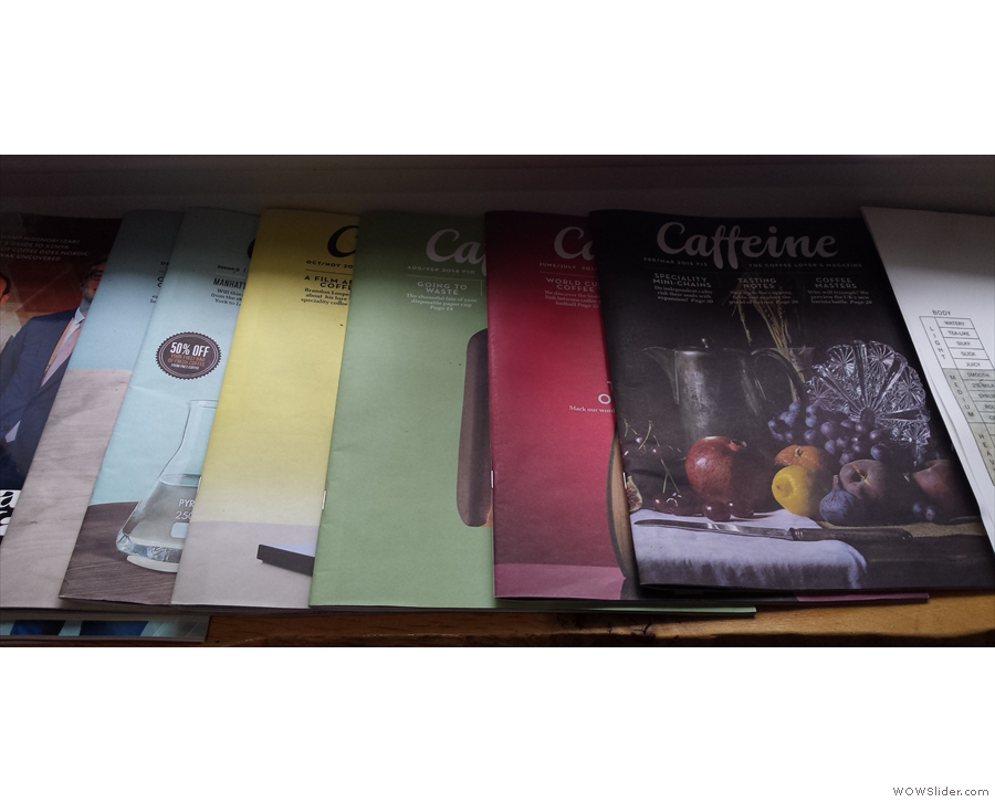 How about a subscription to Caffeine Magazine?