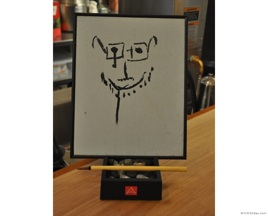 You'll also find this manual version of an Etch A Sketch here. This my attempt at a self-portrait.
