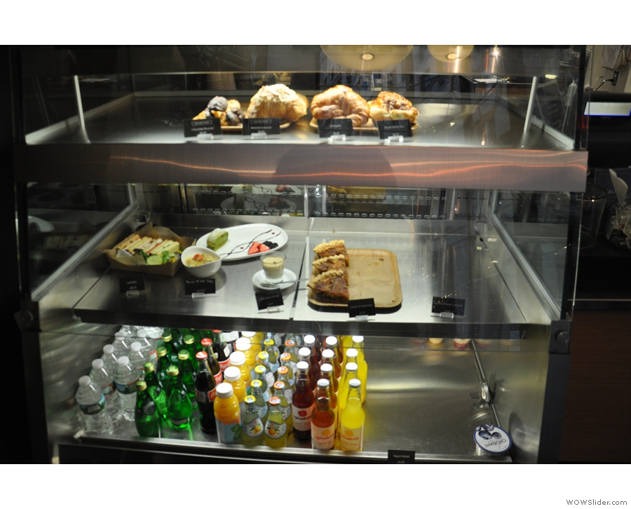 As well as coffee, there's also food, mostly pre-prepared and kept in the chiller cabinet.