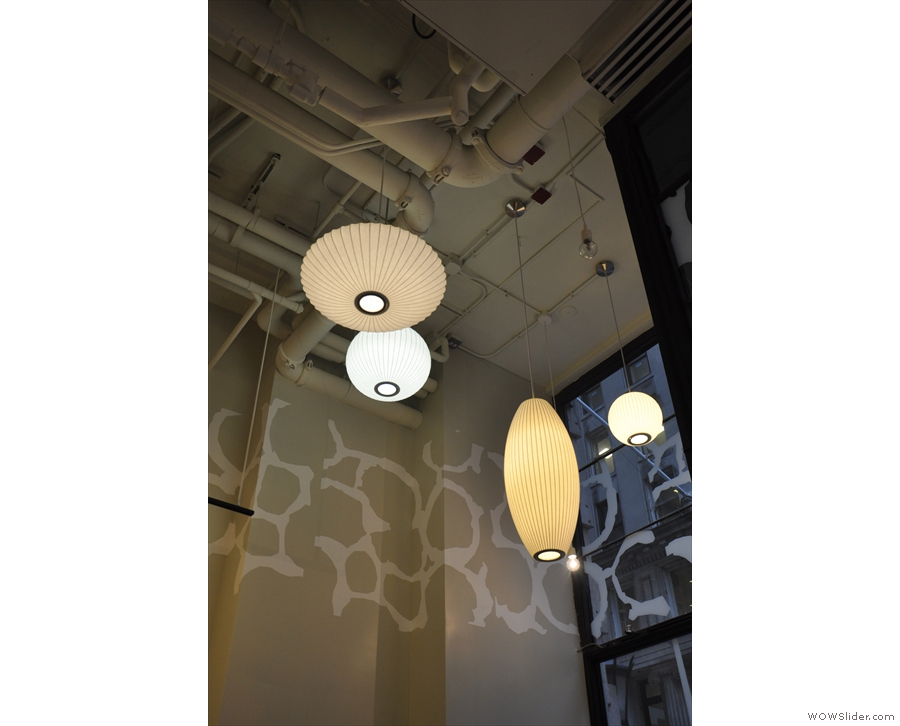 The high ceilings really gave Ogawa a chance to show off when it came to lighting!
