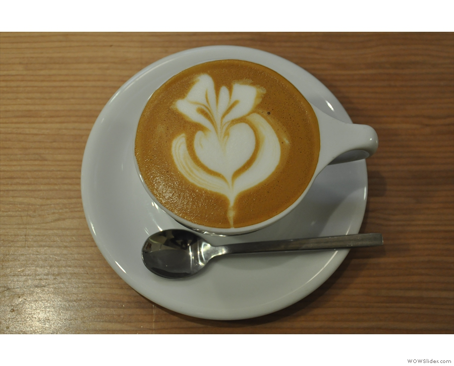 I was particularly taken with the latte art...