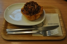 I also fell to the temptation of a (warm) sticky pecan bun, served with a knife and fork.
