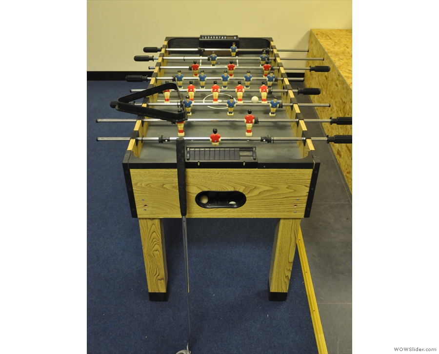 ... so that was definitely not a pool table in the roastery. And this is not table football!