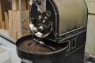 The Roasting Party in Winchester with the eponymous roaster, cooling a recent roast...