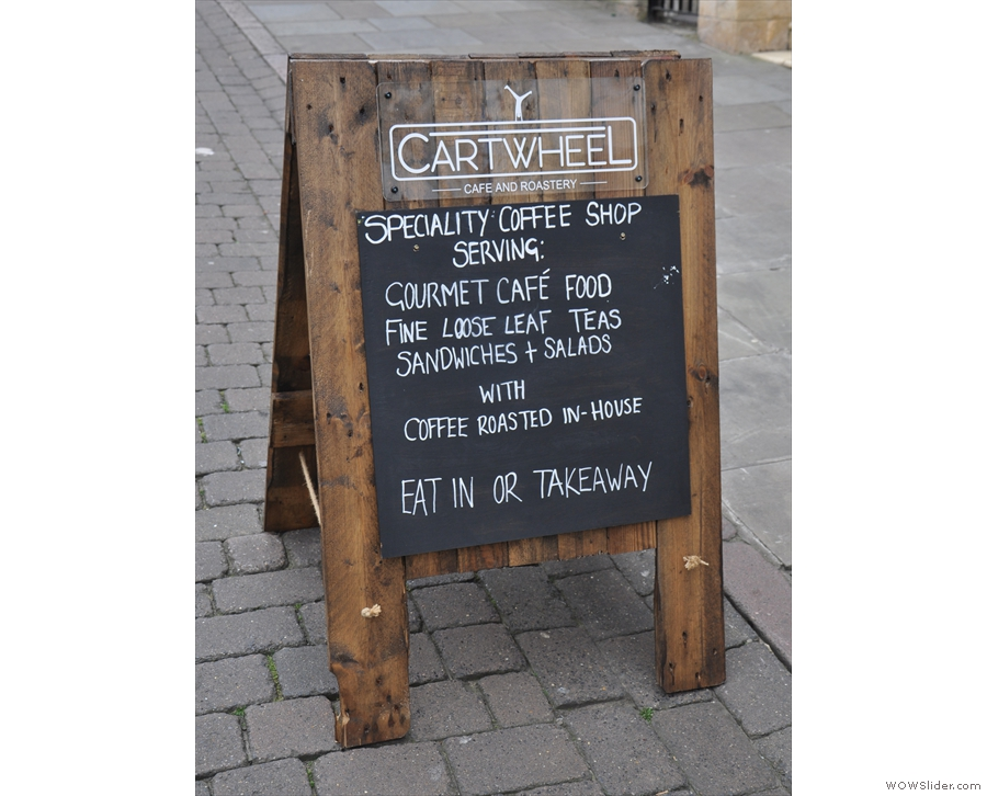 ... Cartwheel Coffee: cafe and roastery, all rolled into one.