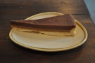 My cake, a slice of the salted caramel and chocolate shortbread tart, all by itself.