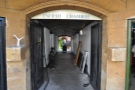 While the passageway looks interesting, in fact it leads to the courtyard of a tea room...
