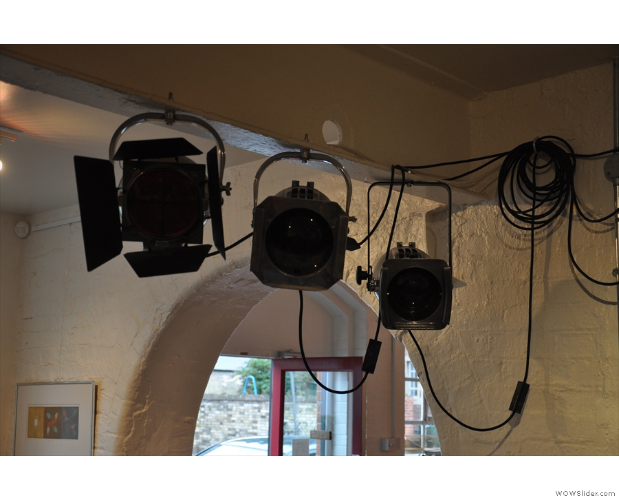 Talking of lights, there are two sets of these stage lights in the main room, which adds to...