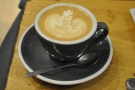 ... and a 6oz with milk (aka a Flat White), which my friend Richard had.